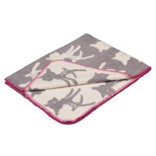 Fabulous Goose Super Soft Brushed Cotton Blanket Fairytale Series - Deer Bambi (Classic Grey)