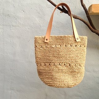 Hand Crochet Bag jute bags - Part C poetic life subsection (single product) - Hand made poetry the new listing, happiness!