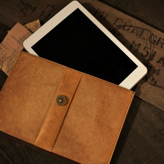 [ADOLE] antique wax cloth pattern leather - classic IPAD MINI package