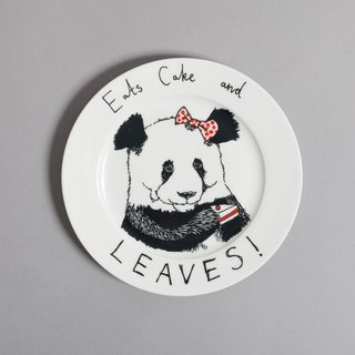 Eats cake and leaves bone china plate | Jimbobart