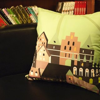 [Take a good trip. To take a rest] suede pillowcase [Lu Beike. Germany】