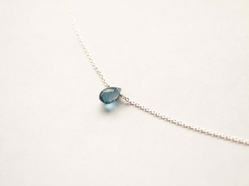 Journal London Blue Topaz / rainbow semi-precious stones naked muscle Silver necklace clavicle
