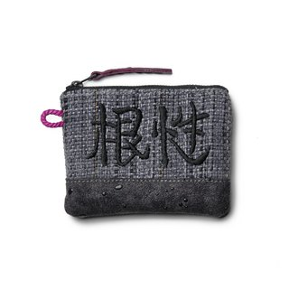 "SAMA'PATTIBHYA'M® Essence Embroidery Stitching Wallet "" root "" old cloth embroidery stitching Purse (Black)"