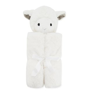 American Quiltex Super Soft Animal Baby Blanket Comforting Blanket - Milk White Lamb