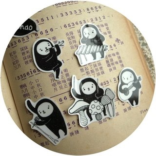 [Transparent / black waterproof stickers] NPC Orchestra (hand-cut limited edition)