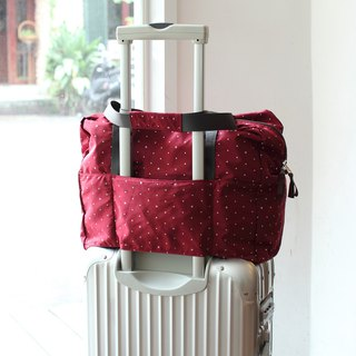 (Mercerized series) Fanny Travel Bag-Dark red_100420-20