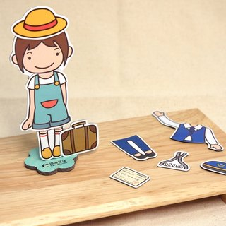 Railway Doll Dressup Game (Magnetic Stickers) - Trainmaster Xiao Ying
