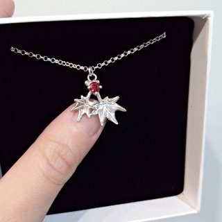 The Maple Leaf series – two leafs (925 sterling silver necklace) - Cpercent handmade jewelry