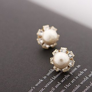[CARUTINA] Snow White Earrings / CA5042-60p