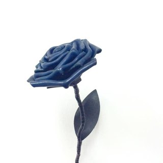 Leather Blue Rose Blue Leather Rose