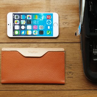 Leather Phone Case for iPhone 6/7/8 ( Custom Name ) - Brick Oran