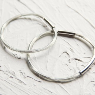 Handmade Japanese Silver Twisted Acoustic Wire Couple Bracelet Bracelet Find Your Silver Lining // For Love (Pair)