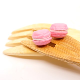 *Playful Design*  Rose Flavour Mini Macaron Earrings