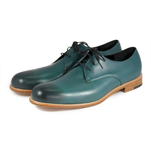 Sweet Villians M1125 手工真皮素面德比鞋 深綠色
