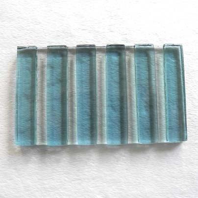 婚禮週邊-【展翅工坊】用心.皂盤-寬直紋台玻皂盤(藍)