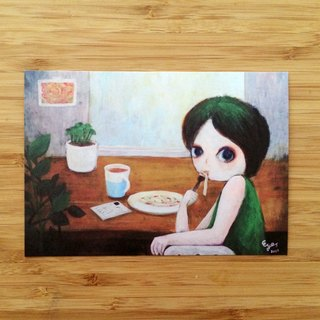 ┇eyesQu┇ appetite autumn ┇ illustration postcard