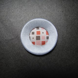 (C) Galaxy plaid _ large double fabric button badge CO54Z05Z09