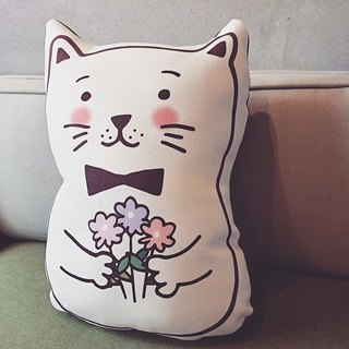 """KerKerland"" ☉ kitty pillow - I love you (booked) For Ting Shang"