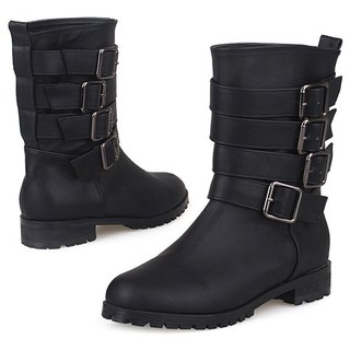 【Korean brand】SPUR Wild girl boots EF7088 BLACK