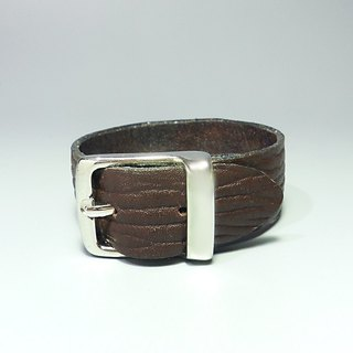 [ANITA] Workshop manual hand-made leather minimalist ‧ bark pattern female models bracelet - Specials
