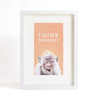 "Original Ink paintings ""monkey"" series -Think Differently- home decorative painting (painting copy) (excluding frame)"