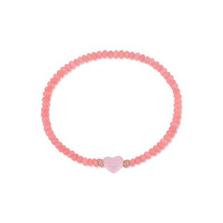 "Hong Kong hand-made ""love pray"" elastic bracelet - rose quartz dyed coral (Japanese Yu Shou send a)"