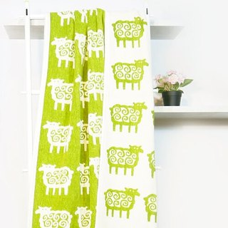 Warm blanket / lazy on the sofa blanket Sweden klippan--Q hairy sheep organic cotton blanket green