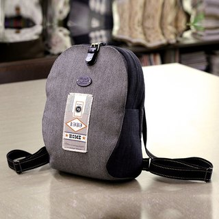 ❖ After Heather Grey English cloth personalized backpack - handmade materials package ❖