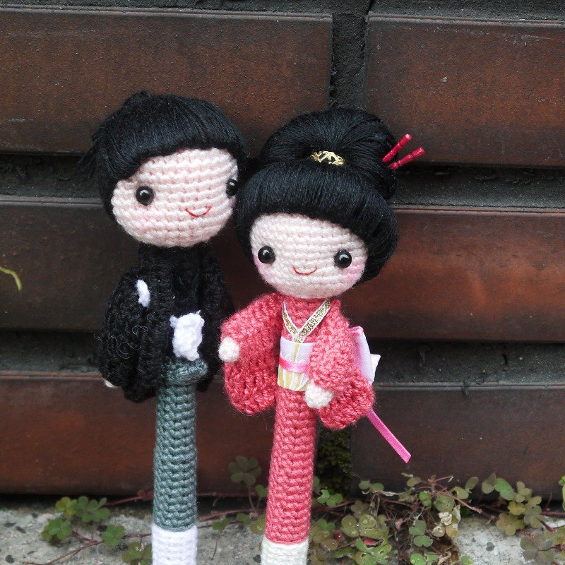 """Wool Hands"" ♥ ♥ Japanese kimono styling signature pen"