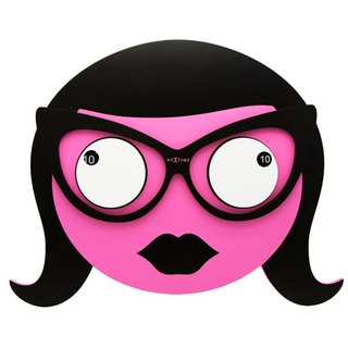 NeXtime - Mrs.Spectacles Miss glasses wall clock