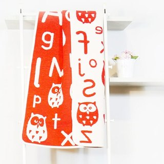 Warm blanket / baby blanket ► Sweden Klippan organic cotton blanket --ABC (red)