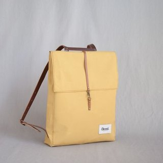 |100% handmade in Spain| Ölend Holden Fabric| Leather |Laptop bag (Mustard)