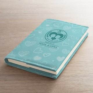 [Valentine's] clothing fashion blue cloth book notebook AT2-VLTM3