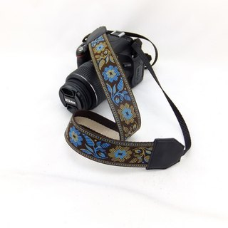 Camera strap can print personalized custom leather stitching national wind embroidery pattern 016