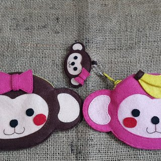"""Mini bear hand as a"" naughty little Q の cute monkey Purse ((tickets can be put on the back of the card or MetroCard))"