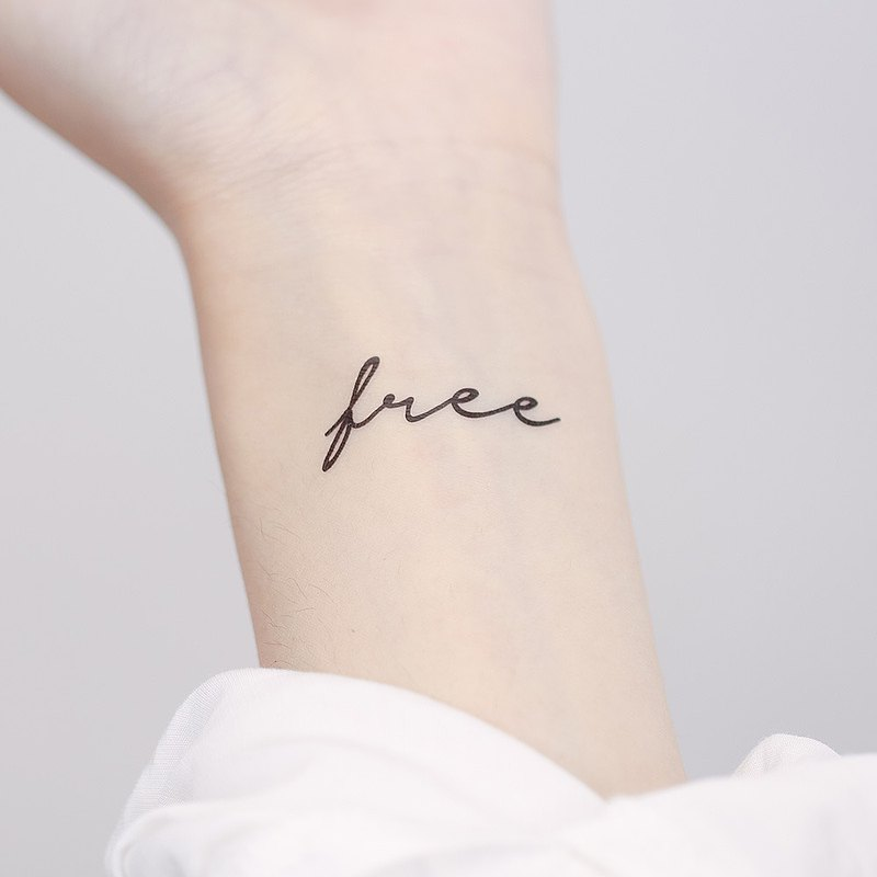 Surprise Tattoos / Free 自由 文字 刺青 紋身貼紙