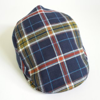 Blue Scottish Plaid Hunting Cap (Flat Cap)