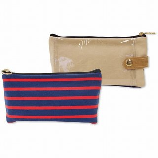 & SMART. Multi-use oblique mobile phone touch bag pencil bag - red / black / blue PINE