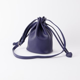 Bundle of Candy Bucket Bucket Bag shoulder dual-use Purplish blue / purple blue