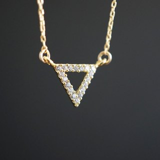 【14KGF】Necklace, CZ Triangle