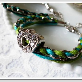 . Love Myself. Love weaving flash diamond bracelet (x Turkey green light green)