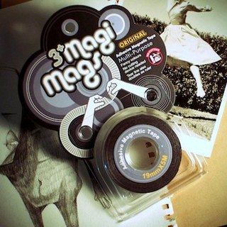 3+ MagiMags Magnetic Tape    19mm x 5M Classic.Sliver