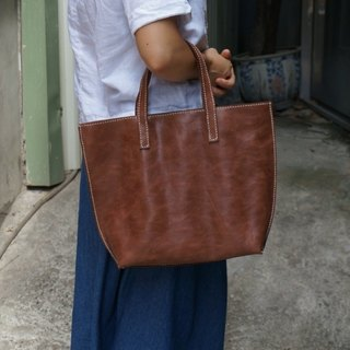 Full leather tote bag (lack of color optional color)