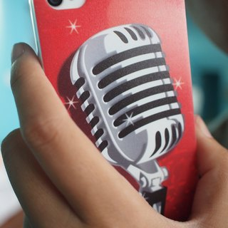 Phone Case Iphone 5 / 4s / 4 - love crazy microphone