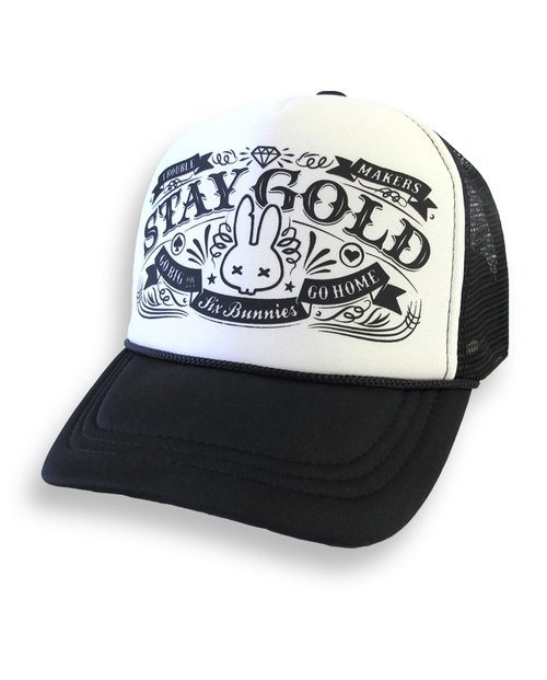 SIX BUNNIES Stay Gold - adhere to dream truck cap / baseball cap