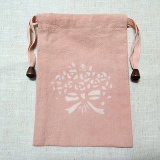 Mumu [vegetation] madder root vegetable dyes dyed pink pouch (bouquet paragraph)