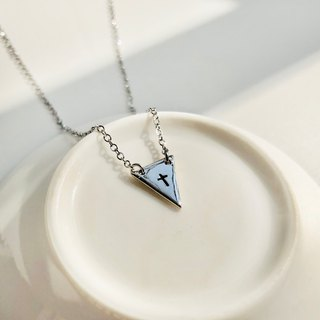 Ohappy Gossip Series. Love Never Ends Sterling Silver Stainless Steel Necklaces