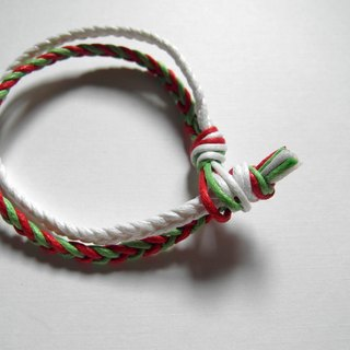 Christmas knot (2) / hand-knitted foot ring