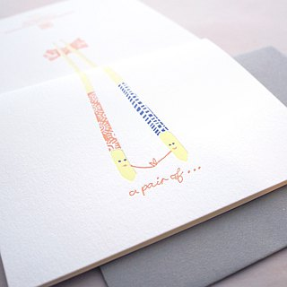 A Pair - Letterpress Love Card