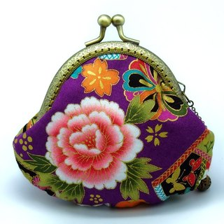 Japanese Kimono Fabric - Small clutch / Coin purse (JS-51)